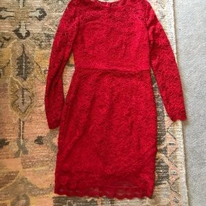 Maurice's red lace dress size large